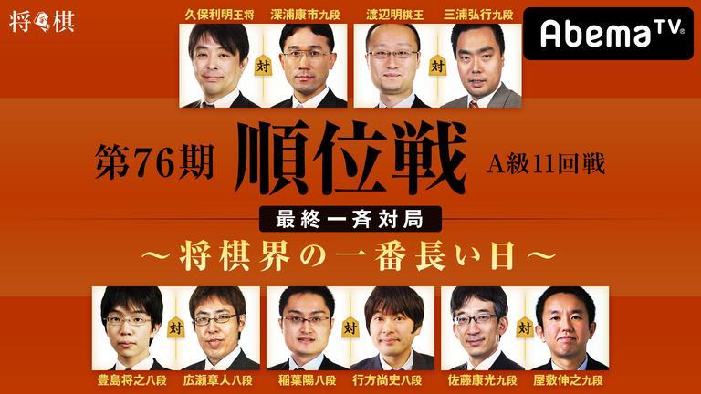 第76期 順位戦 A級 11回戦 最終一斉対局〜将棋界の一番長い日〜