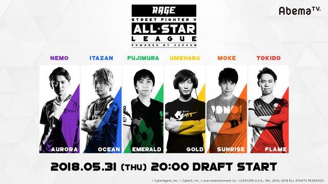 「RAGE SFV All-Star League」ドラフト番組