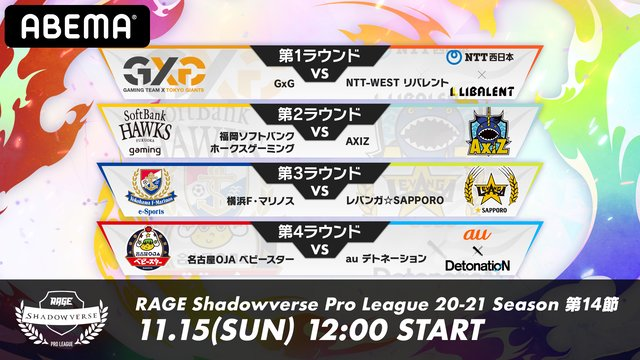 RAGE Shadowverse ProLeague 20-21シーズン第14節