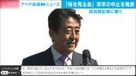憲法改正をスムーズに進めたい安倍総理の思惑か「桜を見る会」来年中止を発表