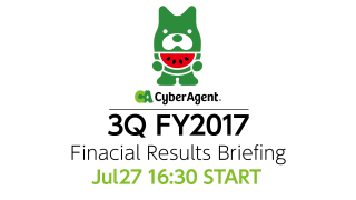 FY2017 3Q Financial Results Briefing *The release dates of new game titles are not fixed yet.