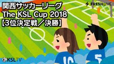 KSL LIVE|関西サッカーリーグ 2018 The KSL Cup 三位決定戦/決勝