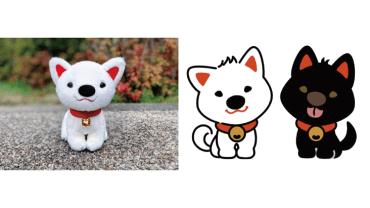 ご神犬キャラクター  社外コンペにて世界文化遺産「丹生都比売神社」のマスコットとして採用され、実際に展開されている。