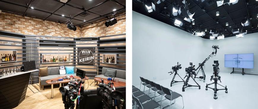 『WINTICKET ミッドナイト競輪』や『72時間ホンネテレビ』などの特番で使用される実際のスタジオ