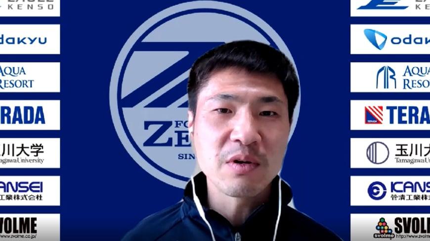 """李漢宰(リ・ハンジェ)氏/2001年、在日朝鮮人3世選手として初めて朝鮮学校からダイレクトでJリーグ入りし、闘争心あふれるプレーで中盤を支えてきた""""魂の漢""""。  2020年シーズン限りで現役を引退し、今年から""""J1クラブへの案内人""""として町田のクラブナビゲーターを務める。"""