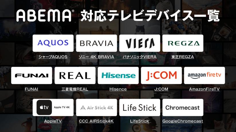 ABEMAテレビデバイス対応一覧表