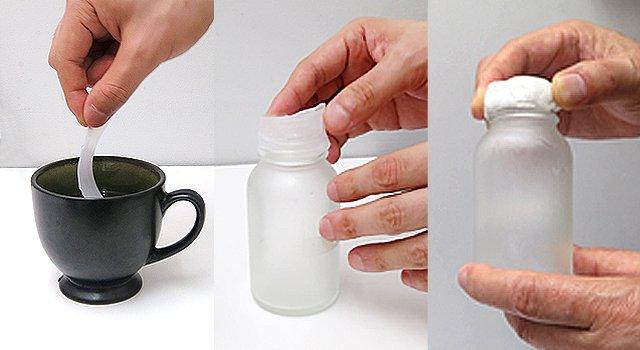 お湯につけると自由に造形することが可能