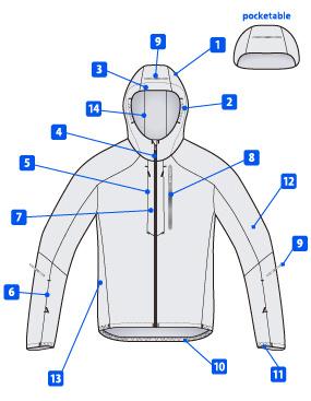 東レENTRANT®高通気タイプで創造するトレランジャケット