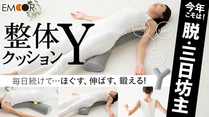 ほぐす・伸ばす・鍛える!気持ち良いから毎日続けられる整体クッション「 Y 」