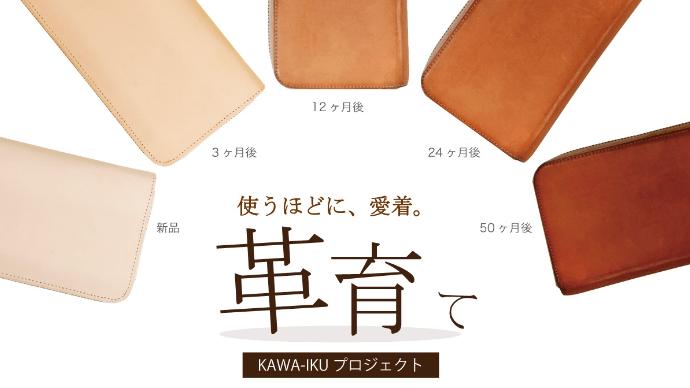 Makuake|【革育】気付けば我が子のように。使うほどに愛着溢れる「ヌメ革(生成り)」革財布
