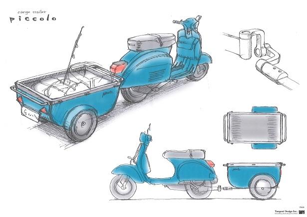 バイク好き必須?...原付用バイクトレーラ「piccolo」
